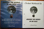 Around the World in 180 Days Teacher Guide  Student Workbook 1st ed FREE ship