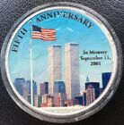 2006 Colored Painted 9/11 American Silver Eagle Coin 5th  anniversary memory.999