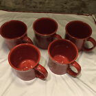 5 Homer Laughlin FIESTA PAPRIKA (CONTEMPORARY) 12 Oz Java Mugs  ***NWT***