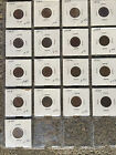 17 coin Indian Head Penny collection