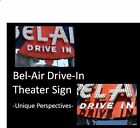 Bel Air Drive-In Theater Sign 2 PHOTOS Lot, Route 66 Movie Theater, UNIQUE P