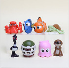 8PCS Finding Nemo Dory Crush Otter Action Figures PVC Toys kid Gifts cake topper