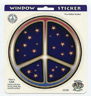 Stars Peace Sign Decal Sticker 45