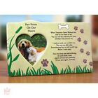 In Memory Photo Frame Inspirational Picture Pet Bereavement Personalized Dog NEW