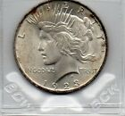 1923 Peace Silver Dollar * Brilliant Uncirculated * Frosty White * Roll Toned *