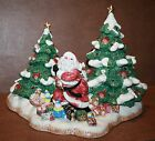 FITZ and FLOYD President's Collection Ltd Edtn Christmas Tree Santa Centerpiece