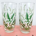 2 Vintage Libbey Glass Lilly Of The Valley Glasses Barware