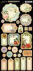 Graphic 45 Time To Flourish Chipboard Craft 27 Embellishments Journal Tags Frame