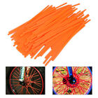 72X Orange Wheel Spoke Wraps Rim Covers Fit Dirt Bikes Motorcycle Motocross