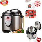 6-in-1 Programmable Electric Pressure Cooker 6qt, 18/10 Stainless Steel Cook Pot