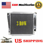 3 ROW ALUMINUM RADIATOR FOR 66 77 FORD BRONCO WAGON ROADSTER 50L 302 V8 MT