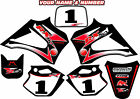 R2 R3 LX3 LEM DECALS GRAPHICS STICKERS NAME AND NUMBER 2003-2012 RX 65 150