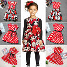 Summer Toddler Girls Dress Princess Baby Kid Mickey Minnie Mouse Dresses Costume