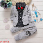 Kid Baby Boys Clothes Formal Party Set Christening Wedding Tuxedo Bow Suit US