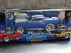 Muscle Machines 66 Ford Mustang GT 350 118 Scale Diecast 1966 Shelby Blue Car