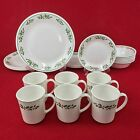 Corelle Winter Holly 24-Piece Set for SIX Christmas Dishes White Veins