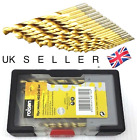 19 PIECE HSS DRILL BITS 1MM - 10MM TITANIUM COATED SET - LOWEST PRICE!! UK