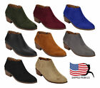 Top Seller ShoeDx Gift Womens Inside Zip Stacked Heel Western Ankle Booties