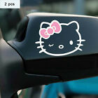 Cartoon Hello Kitty Car Stickers And Decals For Door Mirror Window Body Interior