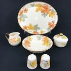 Franciscan October Oval Platter Creamer Sugar Salt Pepper Round Serving Bowl