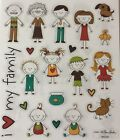 Family People Kids Scrapbook Stickers