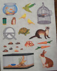 Creative Memories Block Sticker Sheet Goldfish Rabbit
