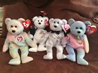 TY BEANIE BABIES HAPPY NEW YEAR 2006 & 2008, CELEBRATE, COLOR ME MINT/MINT TAG