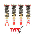 FUNCTION AND FORM F2 TYPE 1 ADJUSTABLE COILOVERS FOR ACURA INTEGRA TYPE R 94-01