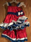 girls pageant  custom red  white and blue patriotic wear OOC