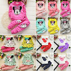2Pcs Kids Baby Girls Minnie Mouse Long Sleeve T shirt Tops Pants Set Outfit 0 3T