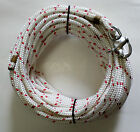 5 16 x 75 ft Dac Polyester HalyardSpliced in s s Snap Shackle White red trace