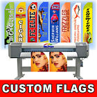 15 Full Color Custom Tall Swooper Advertising Flag Feather Banner +Pole