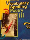 abeka Vocabulary Spelling Poetry III teacher key for 9th grade 4th edition