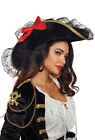 Dreamgirl womens large black Pirate costume hat