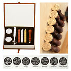 Classic letter Miss You Letter Badge Wax Seal Stamp w Wax Set Stamp 7 Pattern 1x