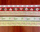 Vintage Woven Edge Ribbon collection Set of 5 ribbons