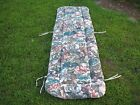 Vintage Lounge Patio Chair Floral Cushion Long Thin w Ties 21