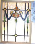 Old SASH Vintage Leaded English stained glass window