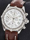 Breitling Crosswind Chronograph SS A13355 Diamond Bezel White Dial 43mm Box