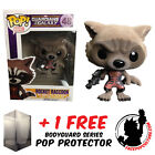 FUNKO POP GUARDIANS GALAXY ROCKET RAVAGER FLOCKED EXCLUSIVE + FREE POP PROTECTOR
