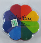 NEW ColorBox Petal Point InkPad Primary 8 Color Pinwheel Ink Pad FREE SHIP