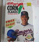1993 Kellogg's Corn Flakes Cereal Box Nolan Ryan Texas Rangers