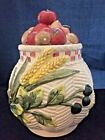 Fitz and Floyd Canister Vegetable Garden & wheat 1995 omnibus by FF