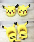 Pokemon Pikachu Plush Slippers Soft Stuffed Childrens Cute Home Indoor Shoes