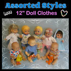 Assorted Styles 12 DOLL CLOTHES Handmade by the Crafty Grandmas
