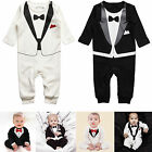 Newborn Baby Boys Infant Jumpsuit Romper Bodysuit Gentleman Suit Clothes Outfits