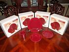 Fiesta Homer Laughlin China Cinnabar 4 Piece Place Setting - Discontinued Color
