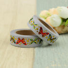 Foil and Print Butterfly DIY Planner Carft Feather Japanese Washi Tape 10m Roll