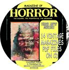 MAGAZINE OF HORROR VINTAGE COMIC BOOKS 17 ISSUES PDF FILES ON CD MACABRE
