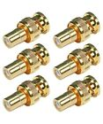 6x BNC Male Connector to RCA Female Jack Adapter Coax Coaxial Gold Plated CCTV